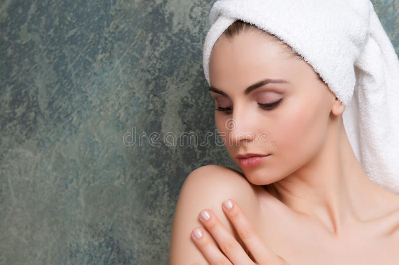 Soft skin and beauty stock photo