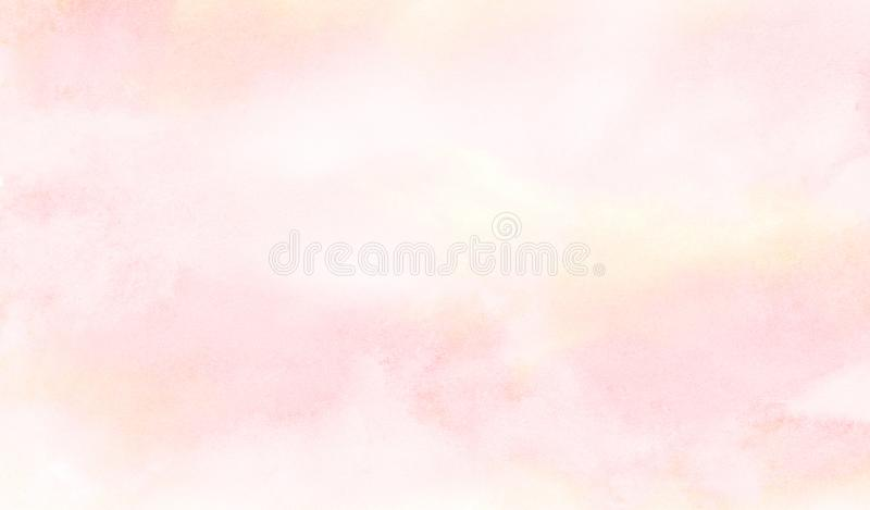 Ink effect light pink color shades watercolor gradient illustration on textured paper background vector illustration