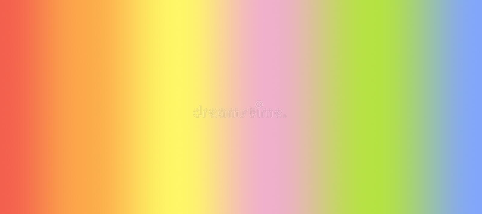 Soft smooth rainbow vertical blended stripes abstract blur gradient background illustration stock illustration