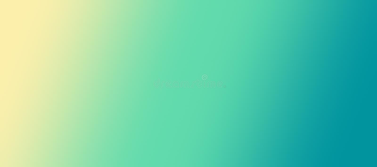 Soft smooth yellow green blue abstract blur diagonal gradient background illustration stock illustration