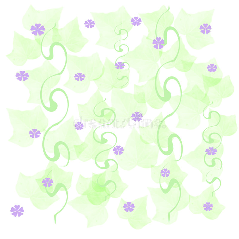 Soft spring paper stock illustration