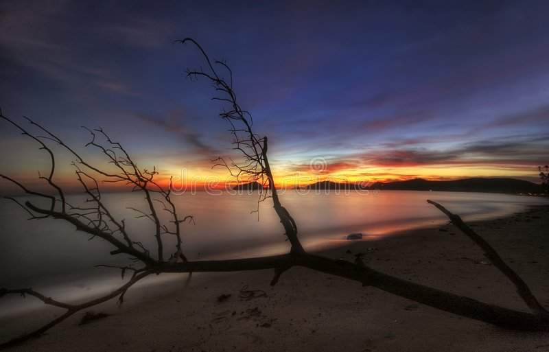 Soft Sunset Of Koh Mak Royalty Free Stock Photos