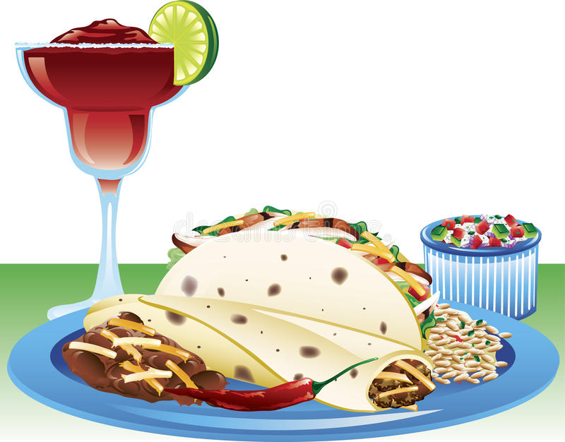 Download Soft taco meal stock vector. Image of ingredient, pico - 20067791