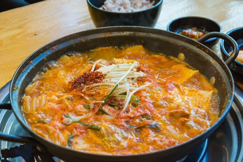 Soft tofu soup royalty free stock photo