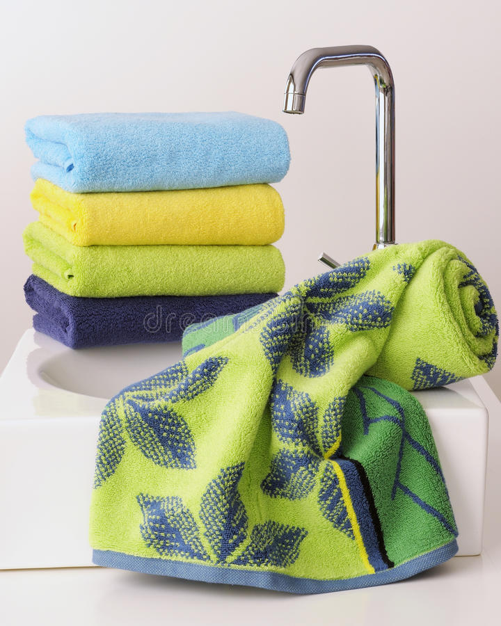 Download Soft towel terry cloth stock photo. Image of brown, manufacturing - 17842682