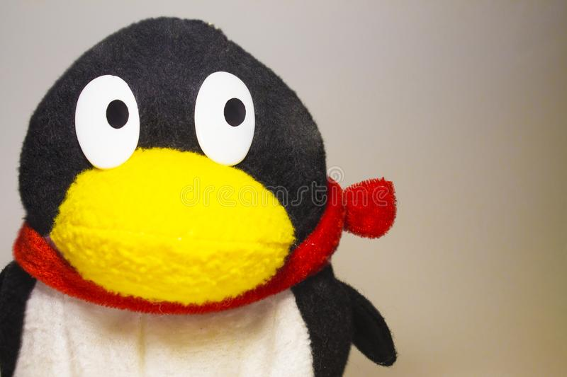 Soft toy penguin stock images