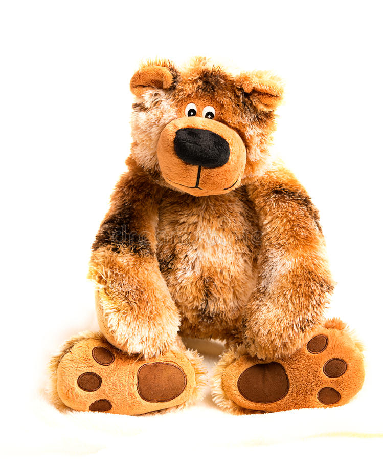 Soft toy teddy bear brown stock photo