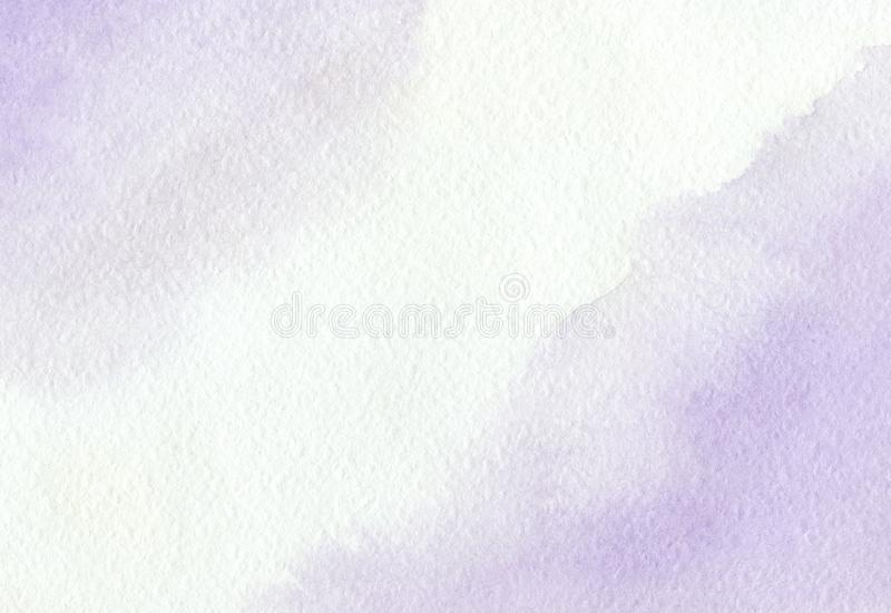 Soft violet background painted by hand with watercolor stock photography