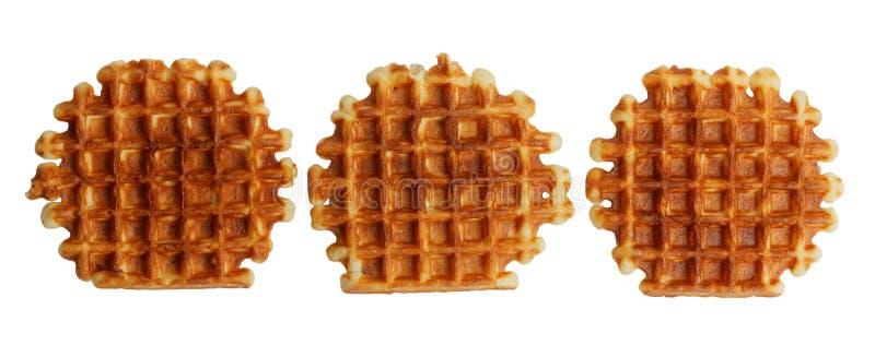 Soft waffles isolated on white stock photography