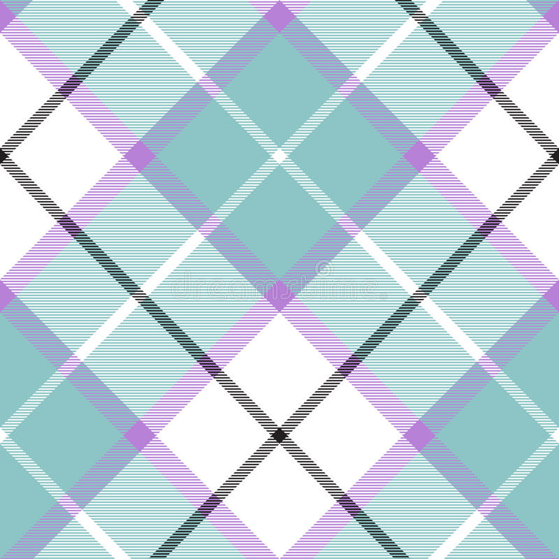Soft warm plaid baby color seamless pattern diagonal texture vector illustration