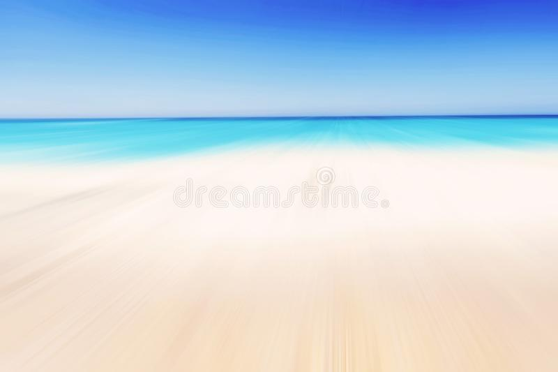 Soft wave of blue ocean on sandy beach. royalty free stock image