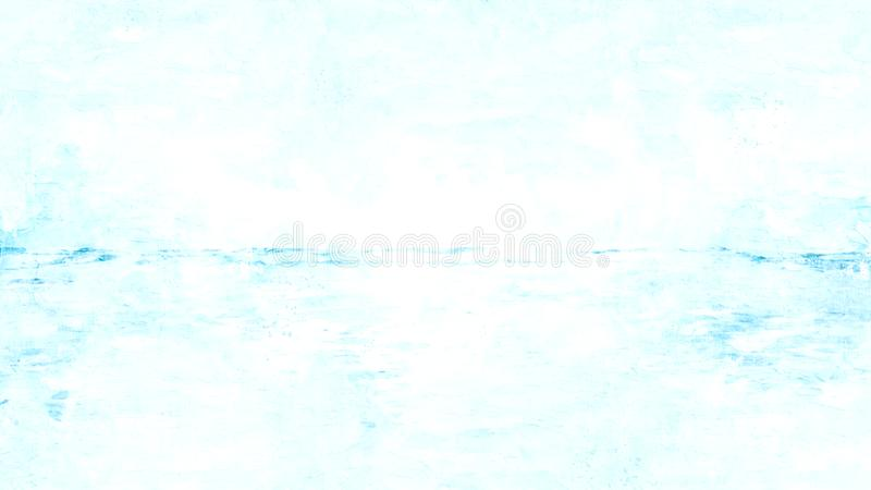 Soft wave sea on watercolor illustration painting background. royalty free stock photography