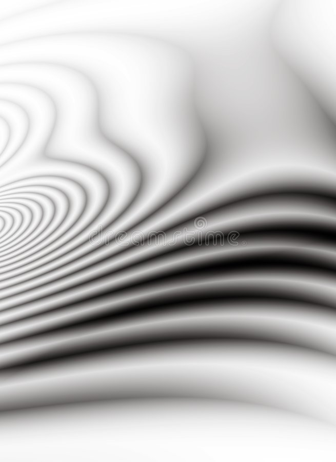 Soft Wavy Lines Black Waves stock illustration