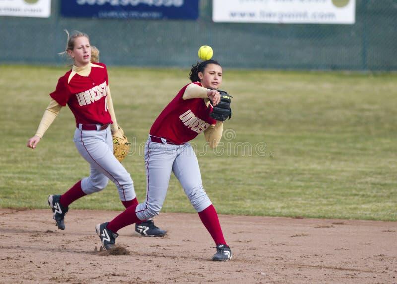softball ρίχνει στοκ φωτογραφία με δικαίωμα ελεύθερης χρήσης