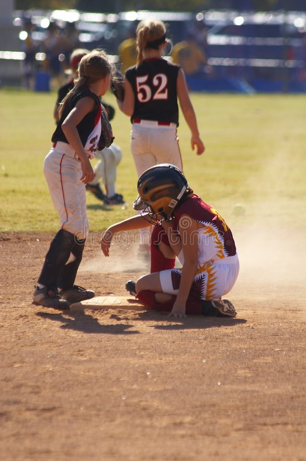 Softball royalty free stock photos