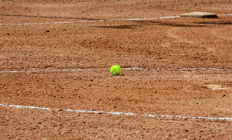Download Softball stock image. Image of girls, game, pitcher, dirt - 15125017
