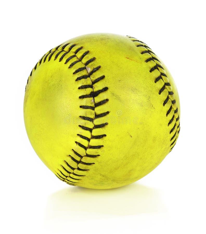Softball amarillo fotografía de archivo