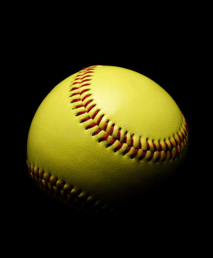 Softball. On a Black background royalty free stock images