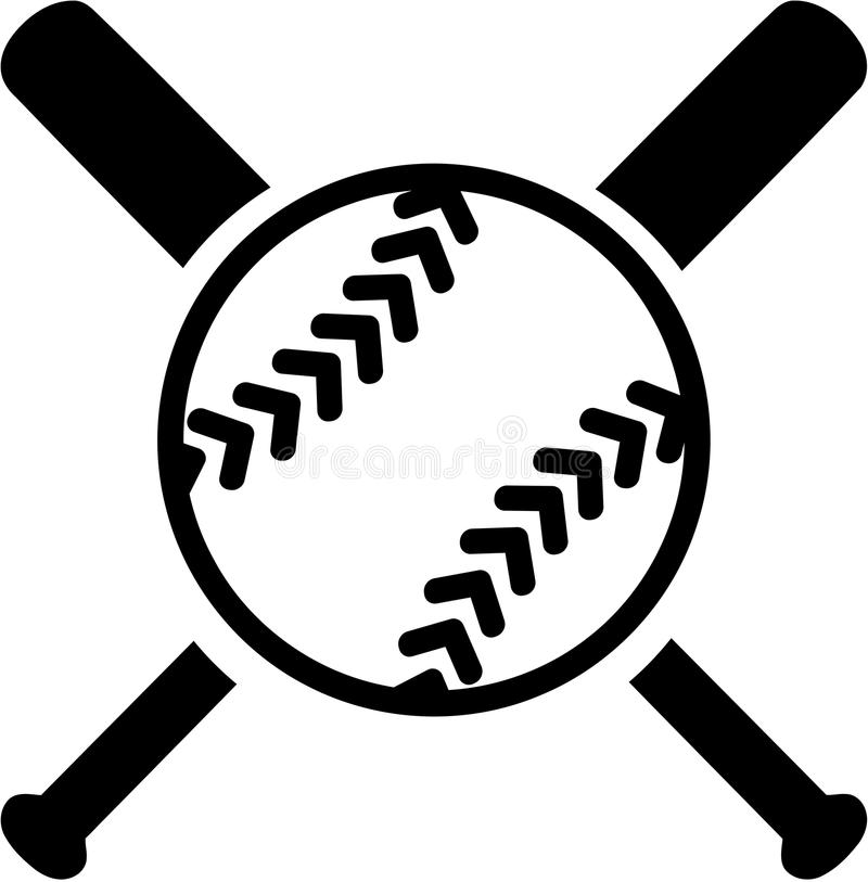 Softball with crossed bats stock vector. Illustration of ... (800 x 813 Pixel)