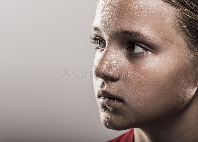 Softball dziewczyna zdjęcie stock
