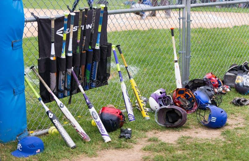 Softball equipment stock photography