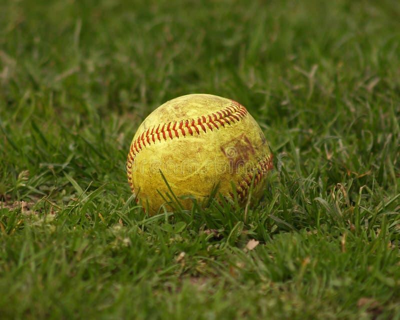 Softball/esfera fotografia de stock