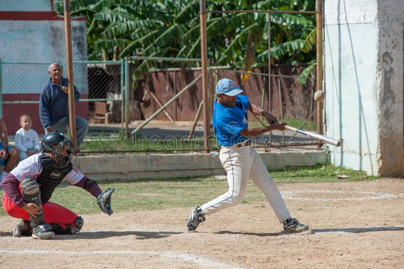 Softball Game in Havana Cuba royalty free stock images