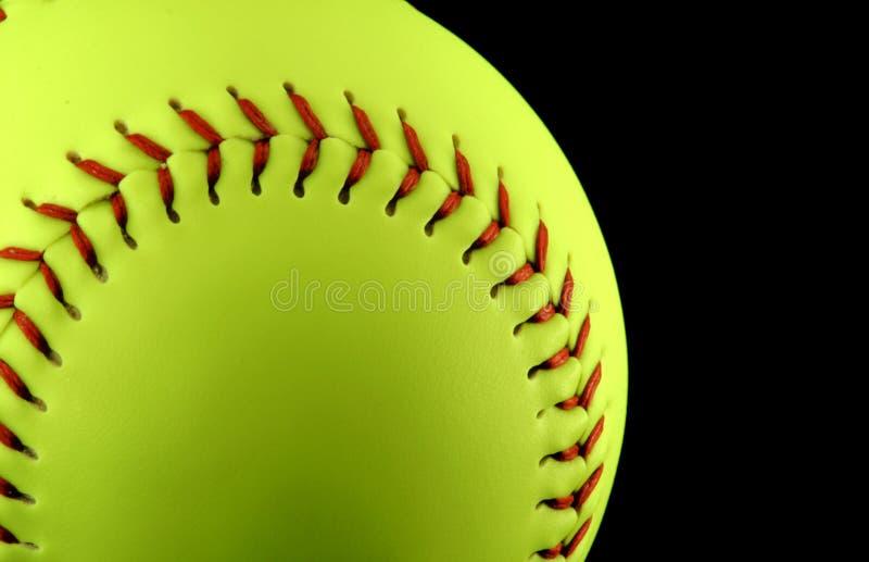 Softball giallo immagini stock libere da diritti