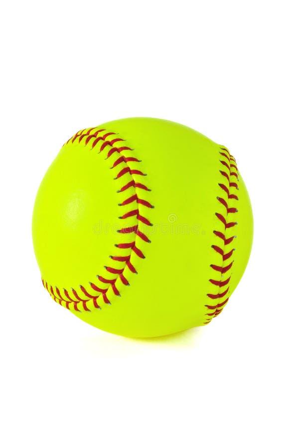 Softball giallo immagine stock libera da diritti