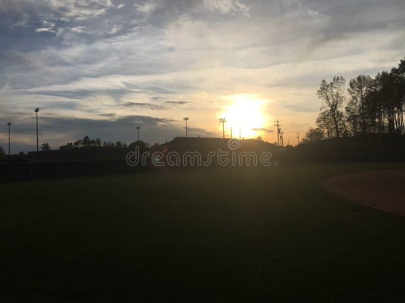 Softball gry dzień obraz royalty free