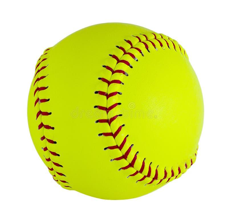 Softball lokalisiert auf weißem Hintergrund stockbilder