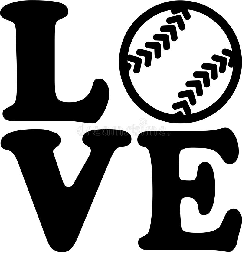 1723+ Love Softball Svg for Silhouette