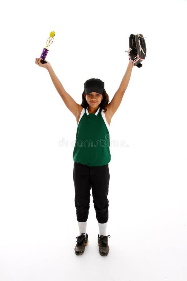 Softball Player royalty free stock photo