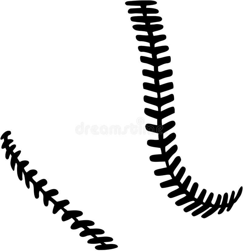 Softball stitches. Vector sports icon royalty free illustration