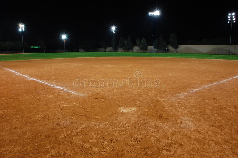 Softballfeld lizenzfreie stockfotografie