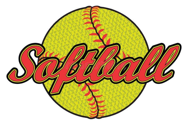 Softballontwerp met Geweven Bal stock illustratie