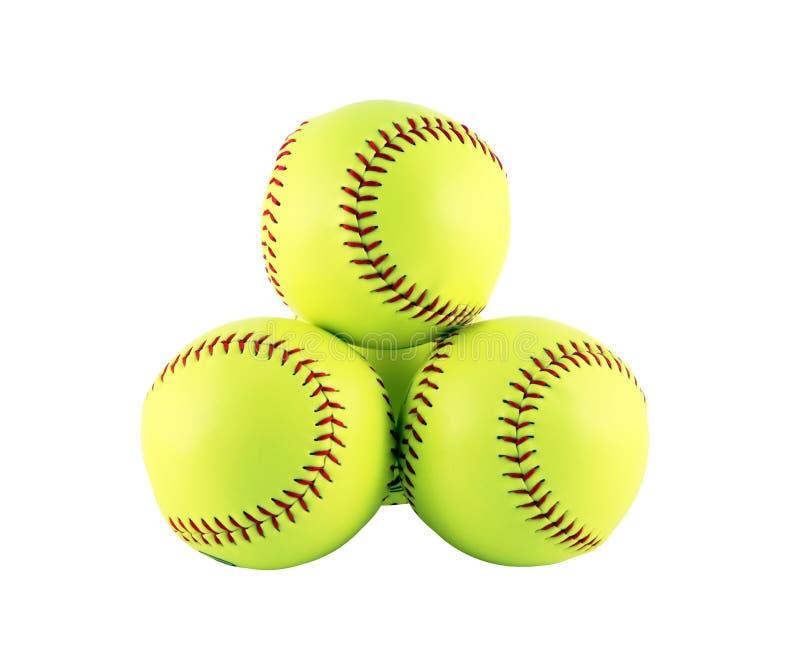 Softballs royalty-vrije stock fotografie