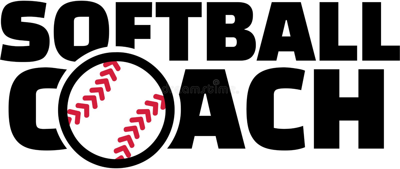 Softballtrainer stock abbildung