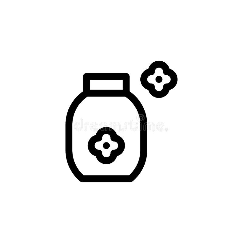 softener icon. Simple thin line, outline  of Laundry icons for UI and UX, website or mobile application royalty free illustration