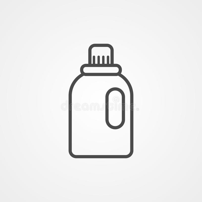 Softener vector icon sign symbol royalty free illustration