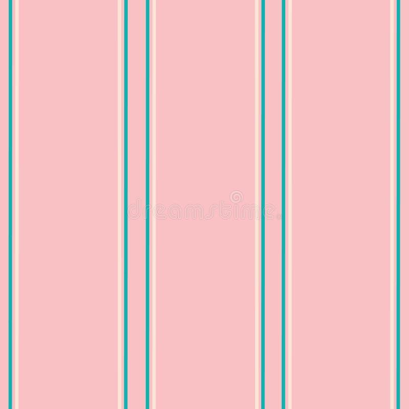 Stripes in teal on pink vector illustration