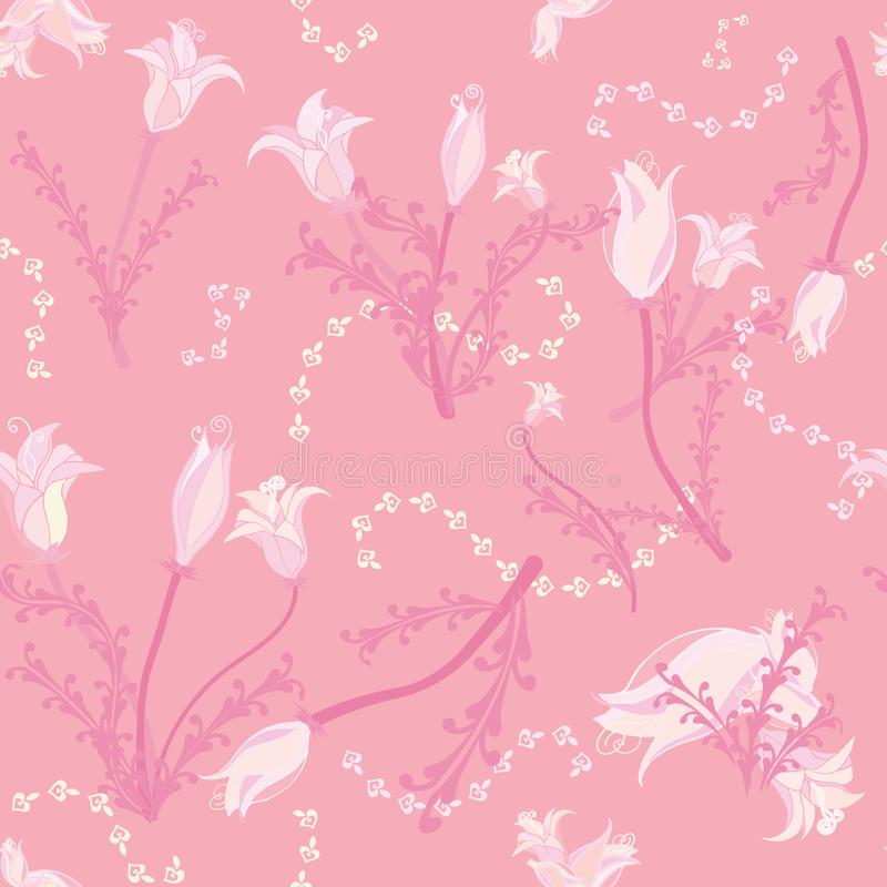 Flowers all in soft pink stock image