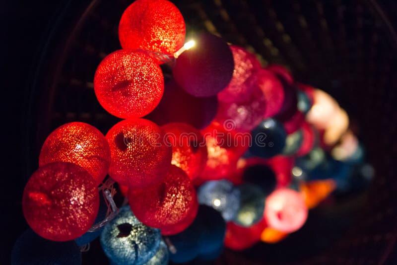 Softness av färgrika ljusa kulor royaltyfri bild