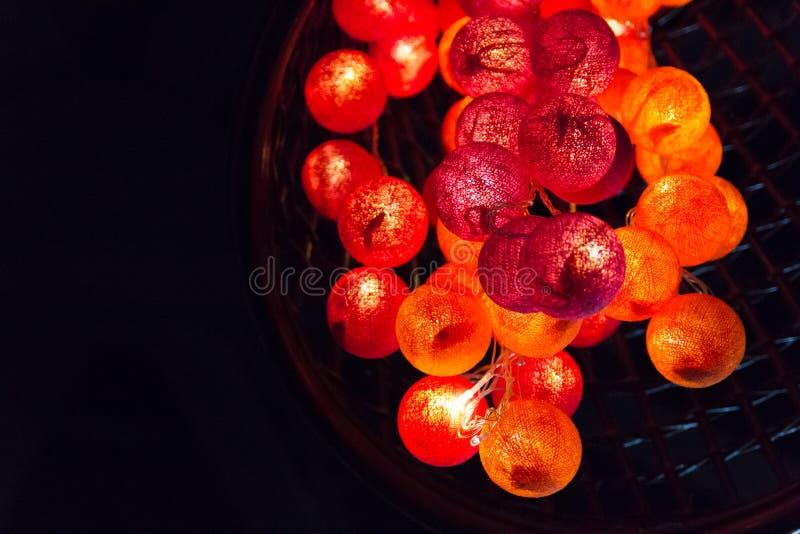 Softness av färgrika ljusa kulor royaltyfri fotografi