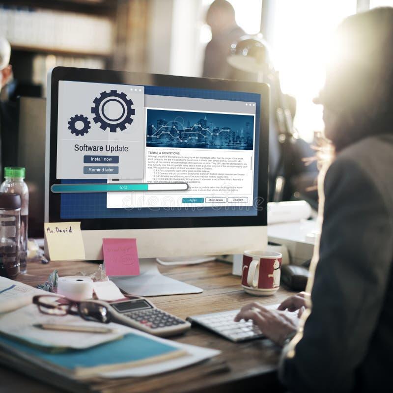 Software-Aktualisierungs-Installations-Verbesserungs-Daten-Konzept stockbild