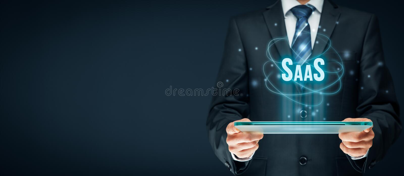 Software als Service SaaS lizenzfreies stockfoto