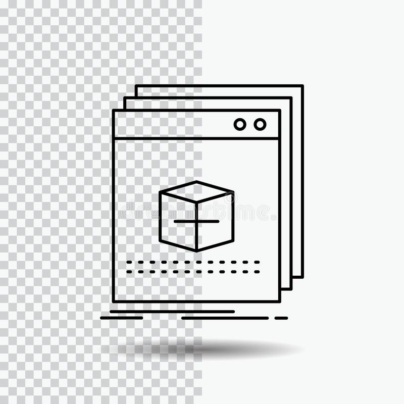 Software, App, application, file, program Line Icon on Transparent Background. Black Icon Vector Illustration. Vector EPS10 Abstract Template background stock illustration