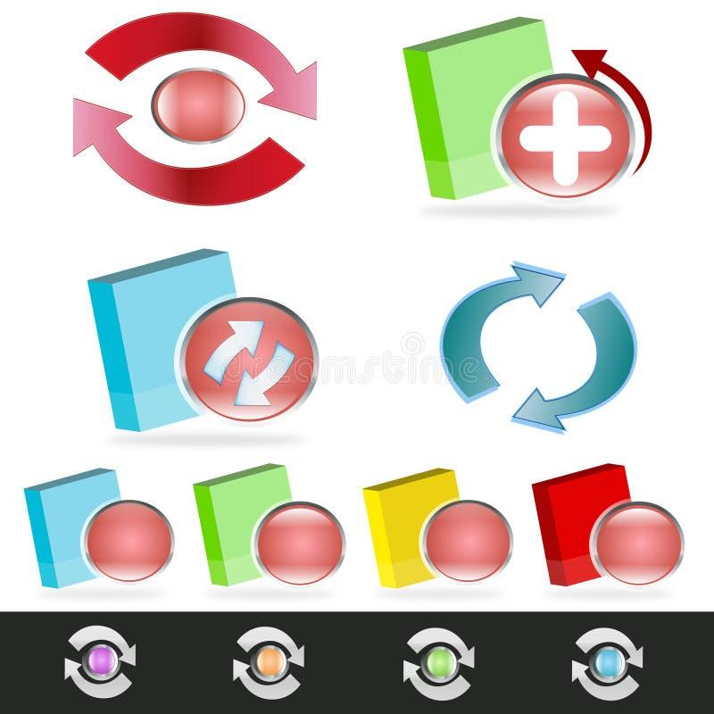Software-Aufsteigen/Aktualisierungsvorgang vektor abbildung