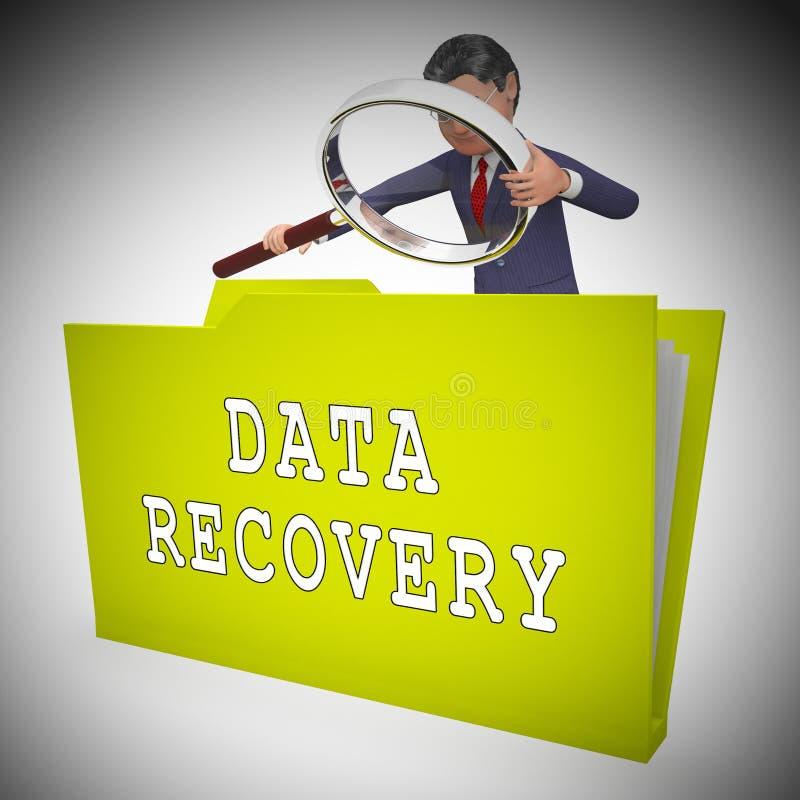 Software Bigdata da recuperação dos dados que restaura a rendição 3d ilustração royalty free