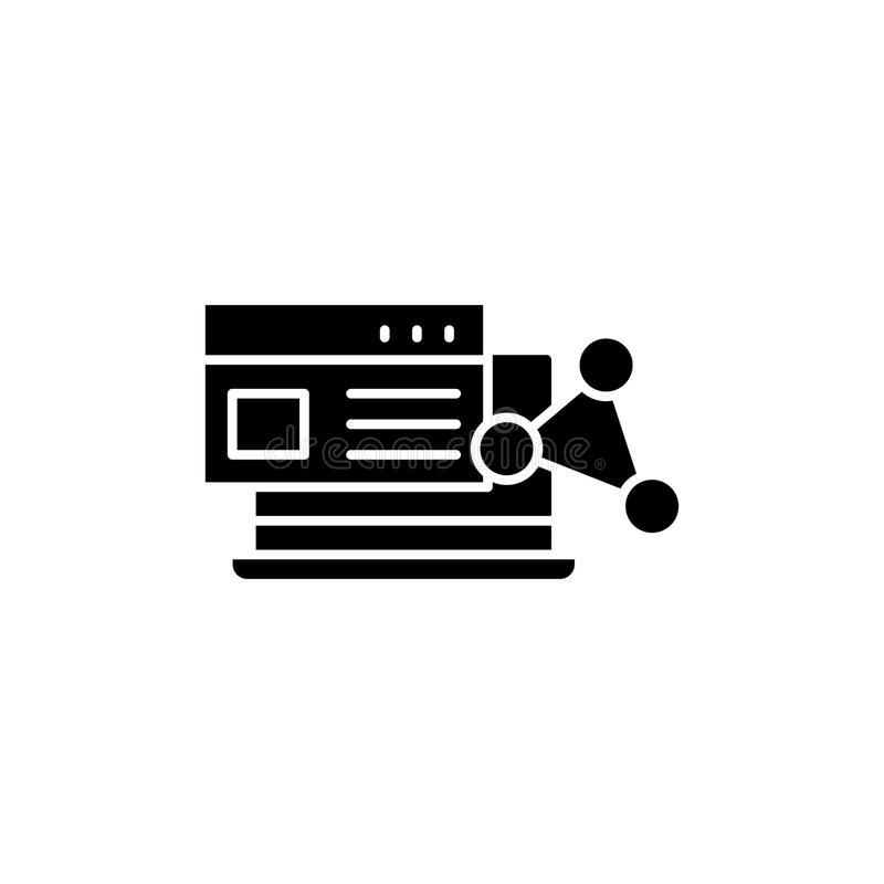 Free Software Black Icon Concept. Software Flat Vector Symbol, Sign, Illustration. Royalty Free Stock Photos - 117528568